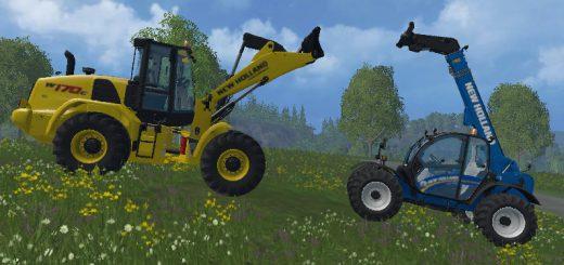 Погрузчики для Мод-пак два погрузчика New Holland для Farming Simulator 2015