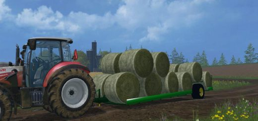 Прицепы для Прицеп для перевозки тюков для Farming Simulator 2015