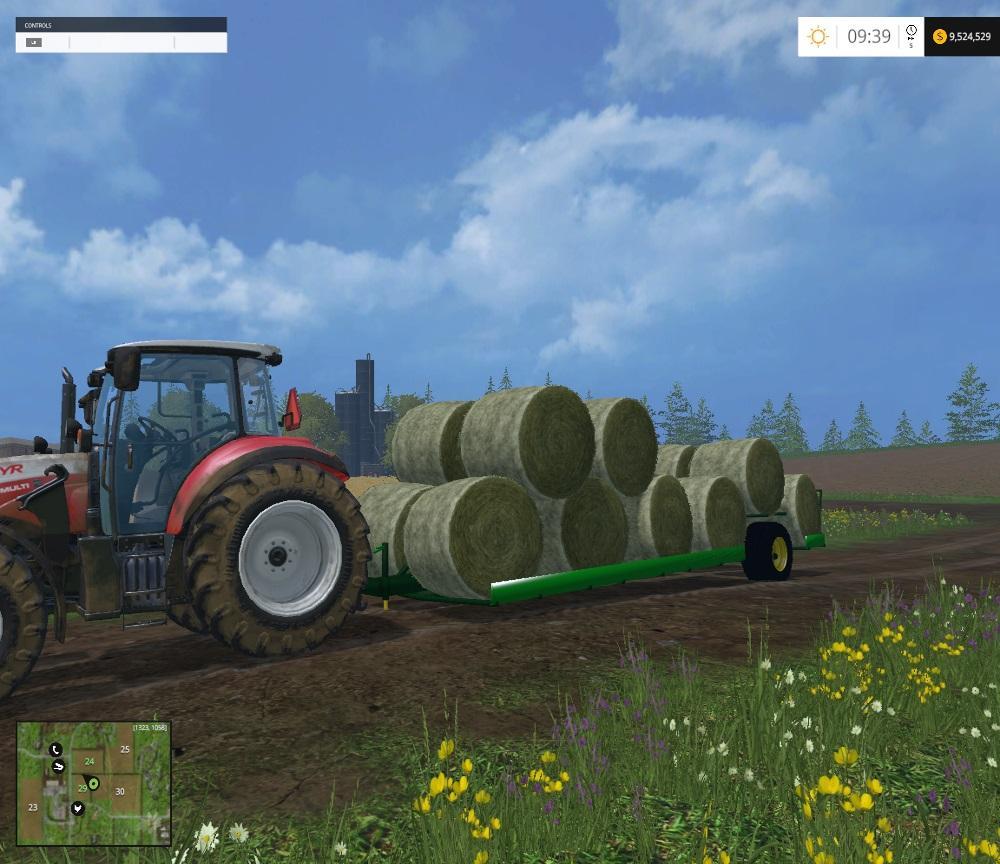 Прицепы для Прицеп для перевозки тюков для Farming Simulator 2015