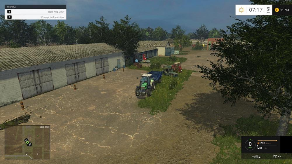 Русские карты для Русская карта «Полевое» для Farming Simulator 2015