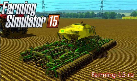 Культиваторы для Мод сеялка-культиватор JOHN DEERE PT SEED для Farming Simulator 2015