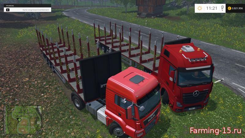 Прицепы для Мод прицепа для бревен для Farming Simulator 2015