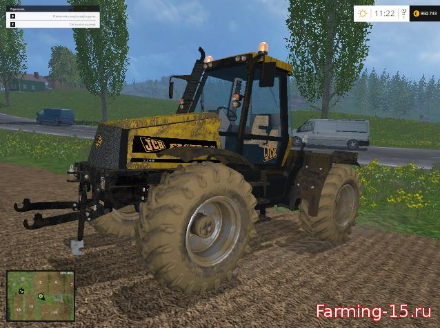 Тракторы для Мод трактор JCB FASTRAC для Farming Simulator 2015