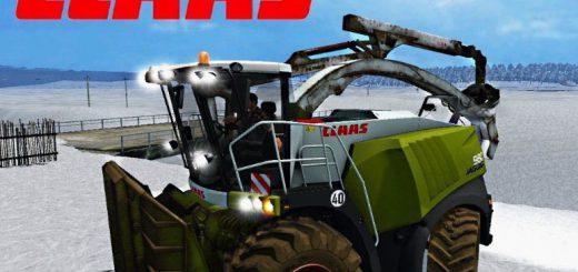 Лесозагатовка для Мод Щеподробилка «Claas 980 Forest» v1.0 для Farming Simulator 2015