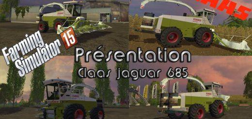 Комбайны для Мод комбайн CLAAS JAGUAR 685 для Farming Simulator 2015