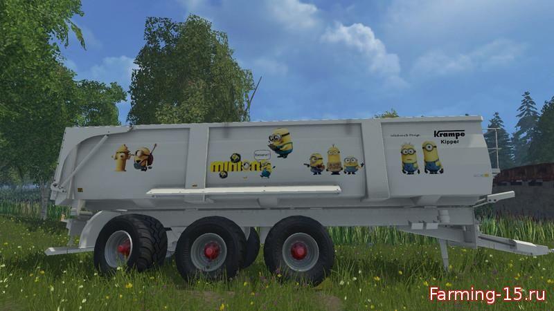 Прицепы для Мод прицеп «Minions» для Farming Simulator 2015