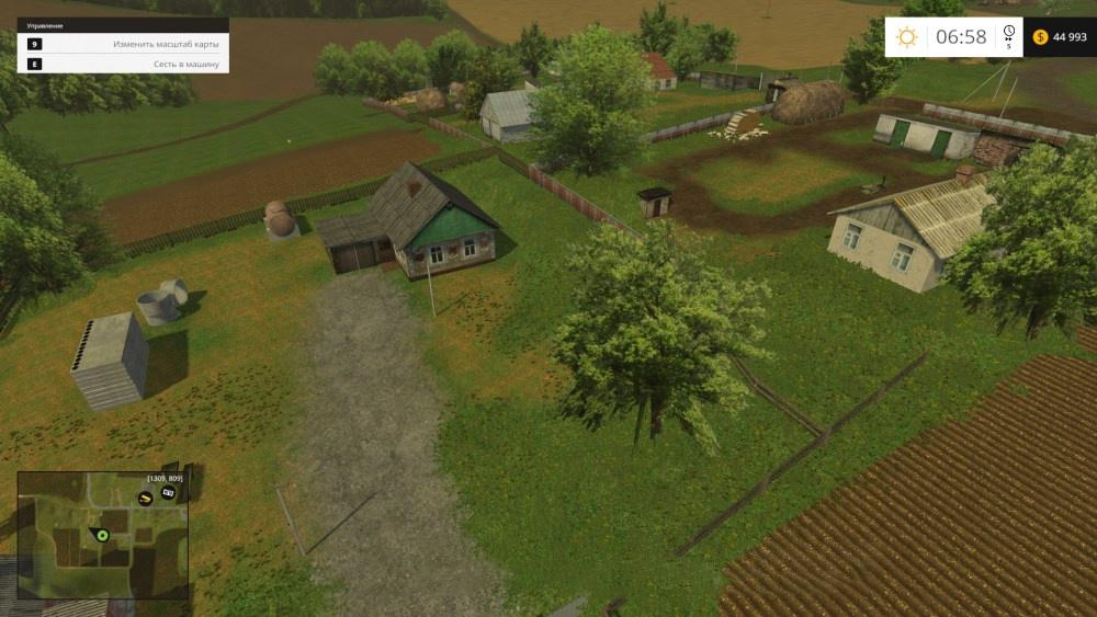 Русские карты для Мод карта Черкащина для Farming Simulator 2015