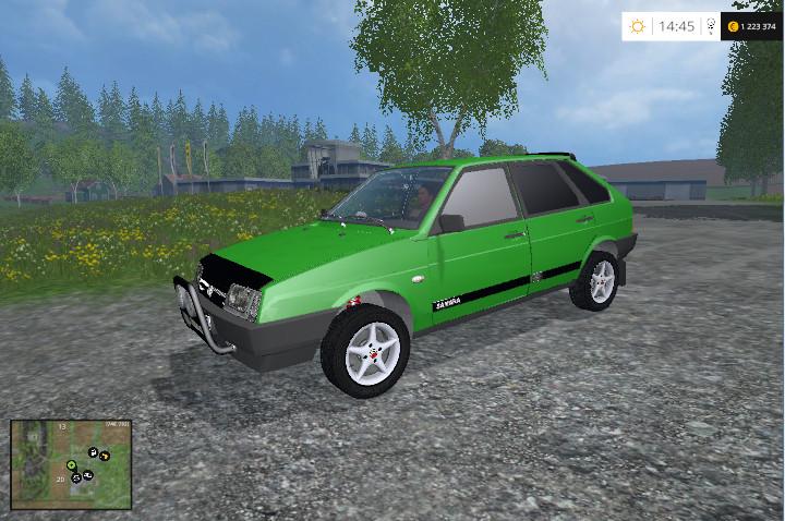 Русская техника для Мод ВАЗ 2109 «Спутник» для Farming Simulator 2015