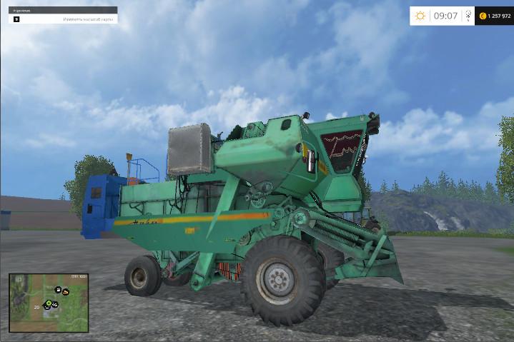 Русская техника для Мод комбайн Нива СК-5 для Farming Simulator 2015
