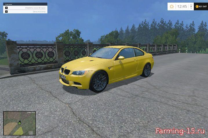 Машины для Мод BMW M3 E92 для Farming Simulator 2015