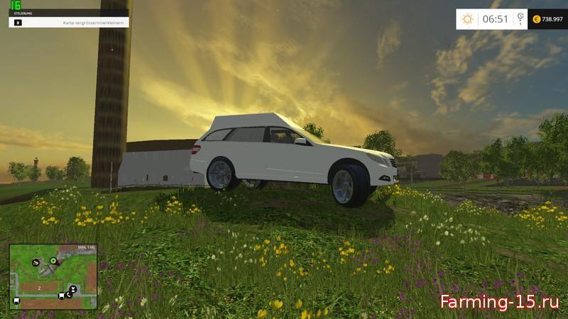 Машины для Мод машина Мерседес - катафалк для Farming Simulator 2015
