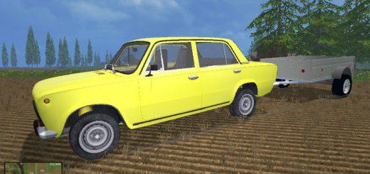 Машины для Мод ВАЗ 2101 и легковой прицеп КАРЗ ПФ-8304 для Farming Simulator 2015
