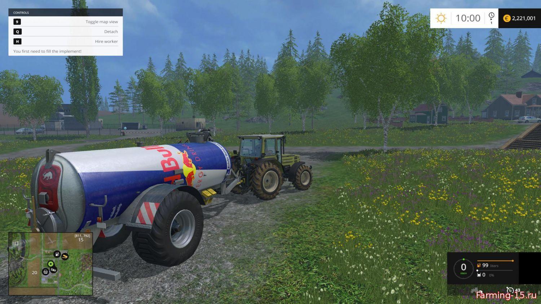 Цистерны для Мод цистерна Red Bull для Farming Simulator 2015