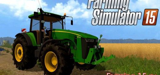 Тракторы для Мод трактор John Deere 8370R v3.0 для Farming Simulator 2015