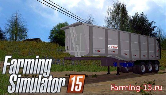 Прицепы для Мод прицеп Fliegl Tridem Semitrailer для Farming Simulator 2015
