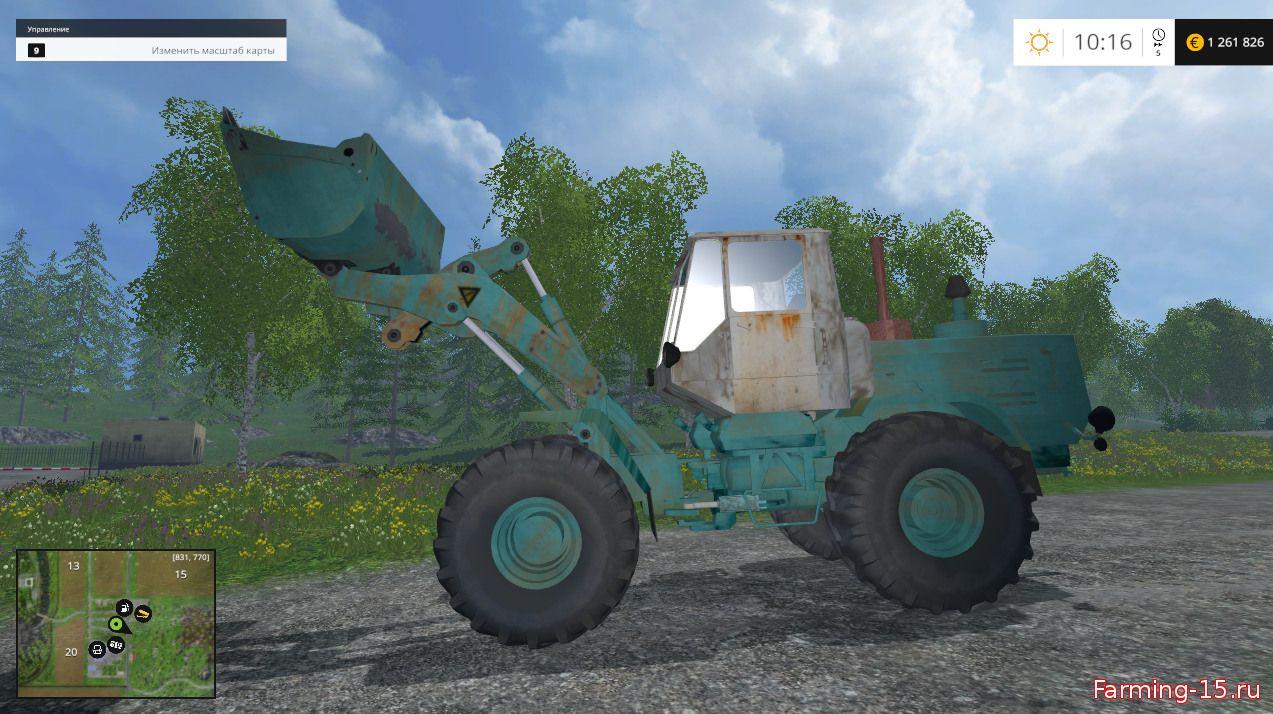 Русская техника для Мод Фронтальный погрузчик ХТЗ Т-156 для Farming Simulator 2015