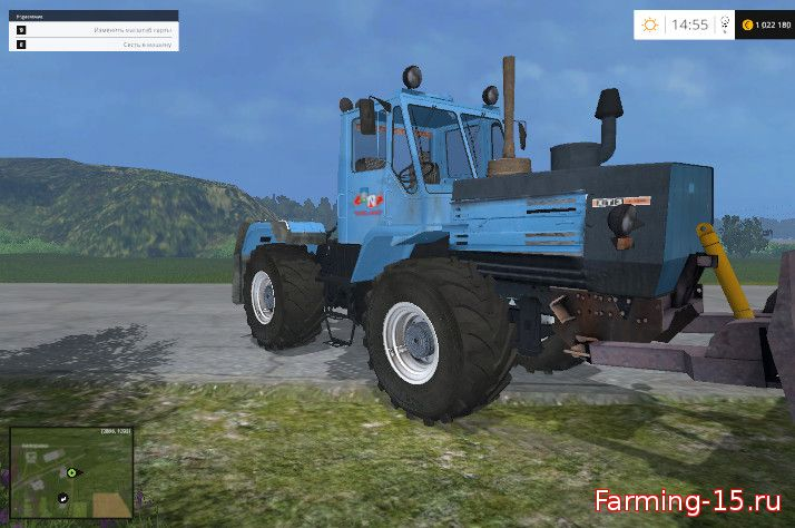 Русская техника для Мод трактор ХТЗ-152К-09 с отвалом для Farming Simulator 2015