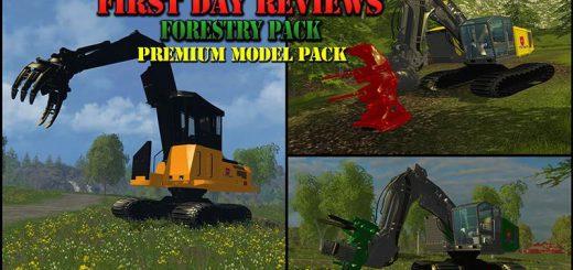 Лесозагатовка для Техника для заготовки леса для Farming Simulator 2015