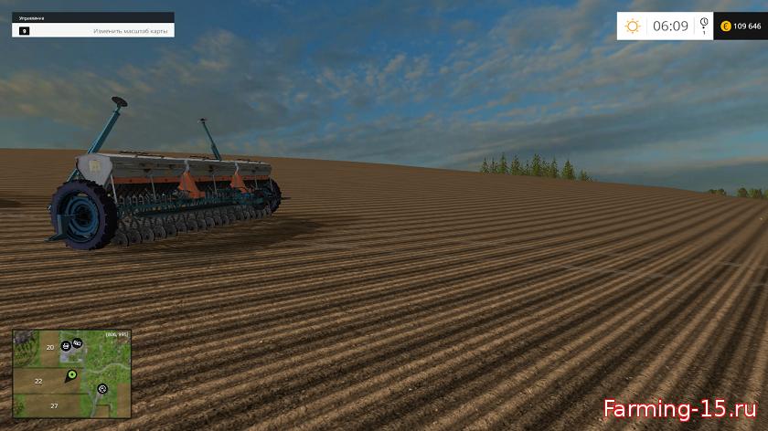 С/Х инвентарь для Мод сеялка СЗТ-5.4 для Farming Simulator 2015