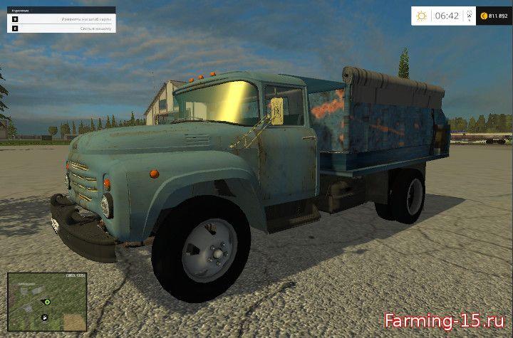 С/Х инвентарь для Мод кормосмеситель на базе ЗИЛ-130 для Farming Simulator 2015