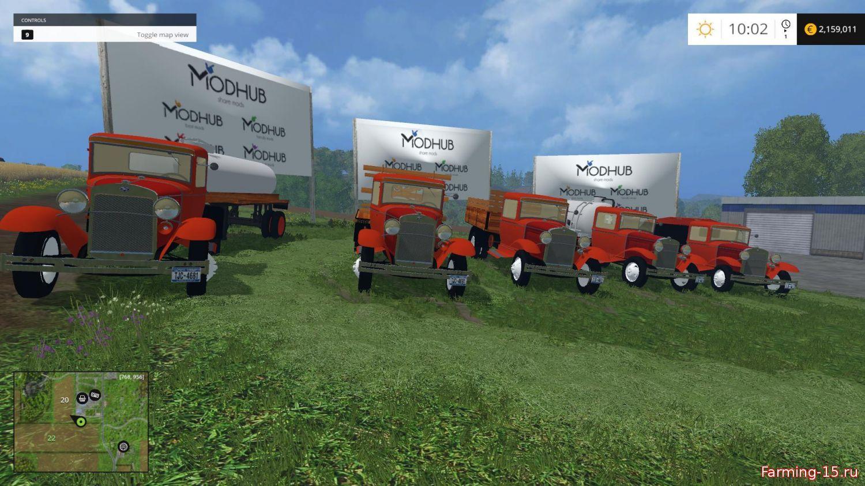 Прицепы для Мод-пак грузовиков Ford для Farming Simulator 2015