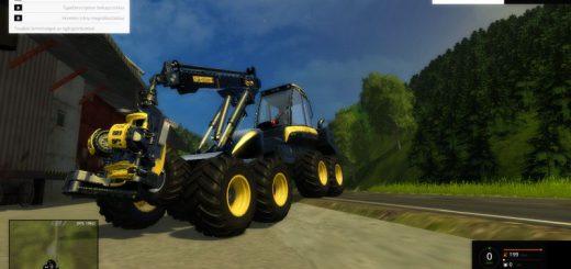 Лесозагатовка для Мод харвестер «Ponsse Bear 8W» v0.1 для Farming Simulator 2015