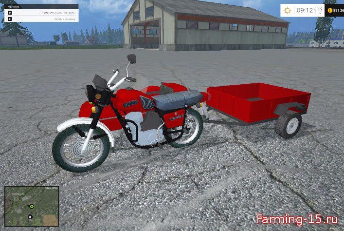 Русская техника для Мод мотоцикл «ИЖ Планета-5» для Farming Simulator 2015