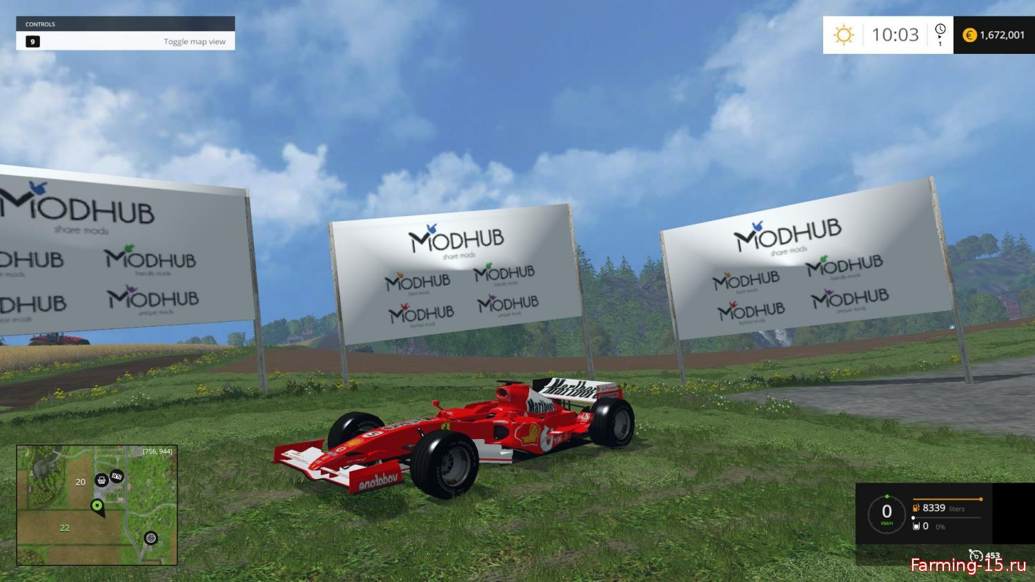 Машины для Мод машина FERRARI F248 для Farming Simulator 2015