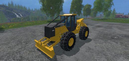 Погрузчики для Мод фронтальный погрузчик «John Deere 648G III» v1.1 для Farming Simulator 2015