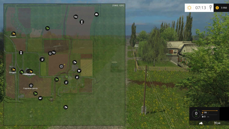 Русские карты для Мод карта поселок Новотроицкий для Farming Simulator 2015