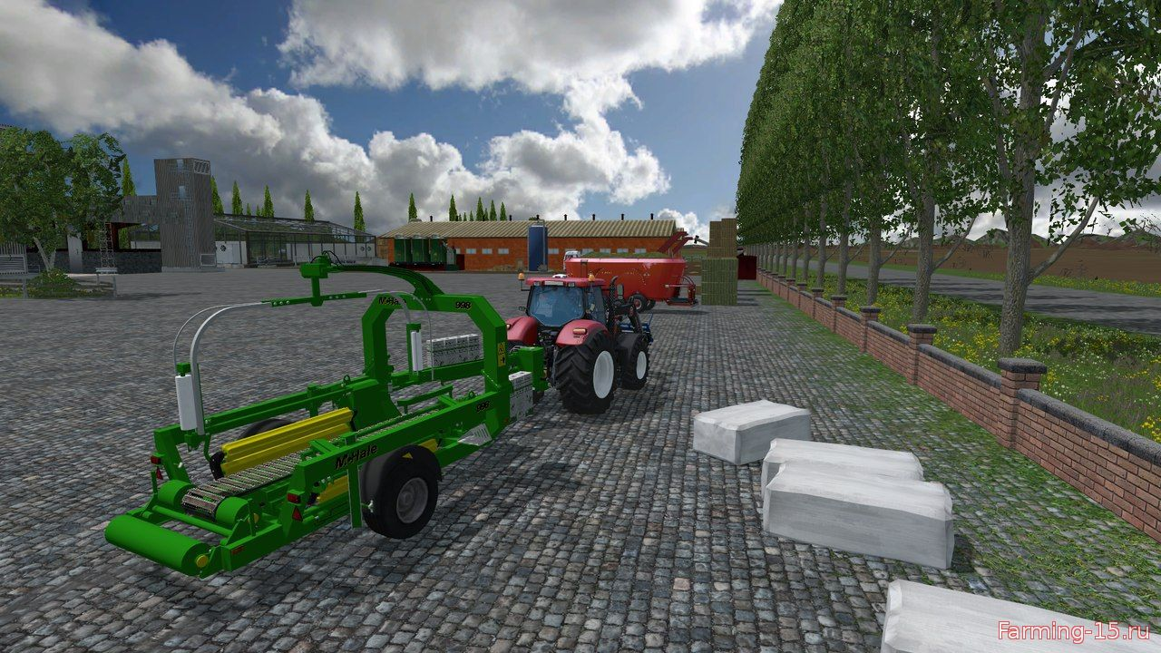 С/Х инвентарь для Мод Обмотчик квадратных тюков под силос для Farming Simulator 2015