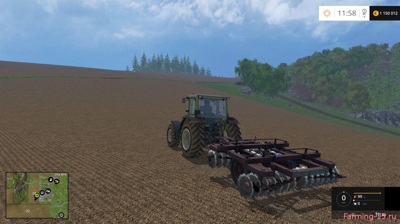 С/Х инвентарь для Мод культиватор БДП-3 для Farming Simulator 2015