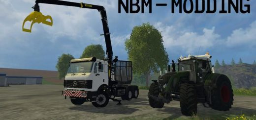 Лесозагатовка для Мод Лесовоз «Mercedes SK Forestry» v1.0 для Farming Simulator 2015