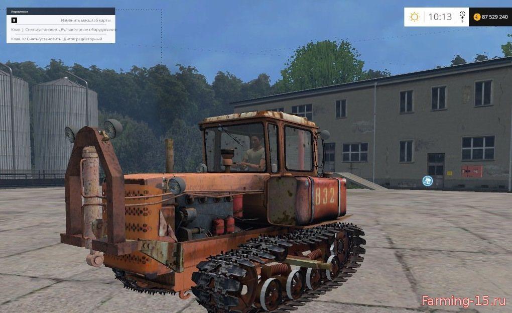 Русская техника для Мод гусеничный трактор ДТ-75Б для Farming Simulator 2015