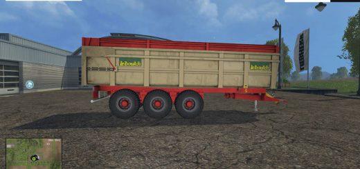 Прицепы для Мод прицеп Benne Leboulch Tridem Gold для Farming Simulator 2015