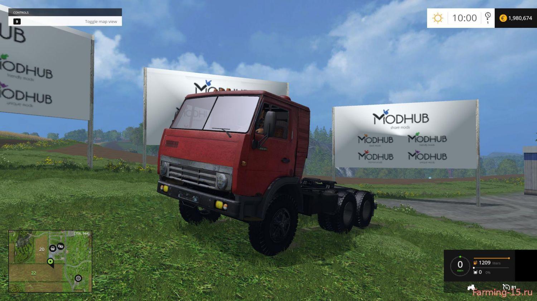 Русская техника для Мод грузовик КамАЗ 5410 для Farming Simulator 2015