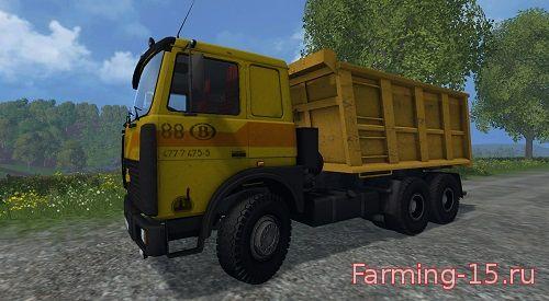 Русская техника для Мод грузовик МАЗ 5516 для Farming Simulator 2015