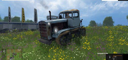 Русская техника для Мод гусеничный трактор ДТ 75М для Farming Simulator 2015