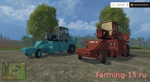 С/Х инвентарь для Мод-пак корнеуборочных машин и РКС-4 для Farming Simulator 2015