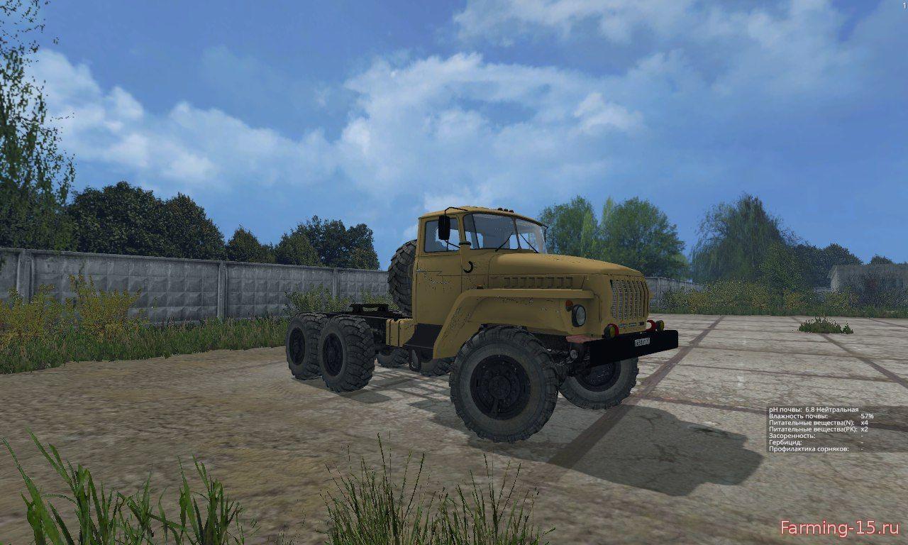 "Русская техника для Мод грузовик ""Урал-4320"" для Farming Simulator 2015"