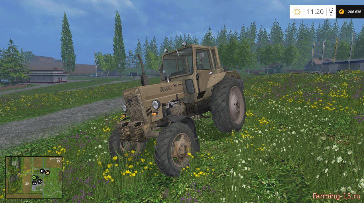 Русская техника для Мод трактор MTZ-82.MK для Farming Simulator 2015