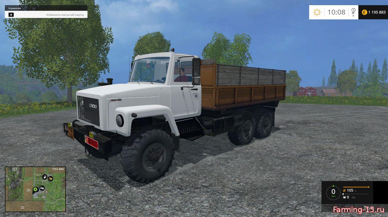 Русская техника для Мод грузовик «ГАЗ-3309» v1.0 для Farming Simulator 2015