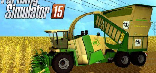 Комбайны для Мод комбайн Krone Big X 650 Cargo для Farming Simulator 2015