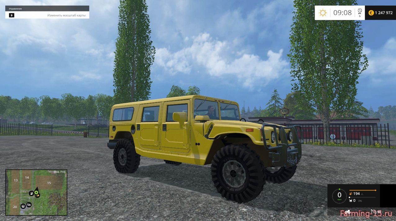Машины для Мод Хаммер H1 для Farming Simulator 2015