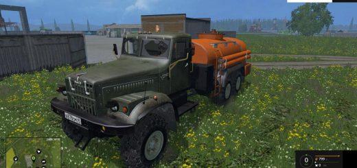Русская техника для Мод заправщик КрАЗ для Farming Simulator 2015