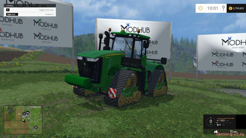 Тракторы для Мод трактор John Deere 9560RX FINAL для Farming Simulator 2015