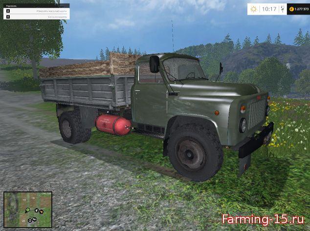 Русская техника для Мод зеленый ГАЗ-53 для Farming Simulator 2015