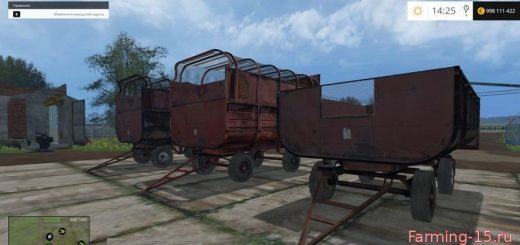 "Прицепы для Мод прицеп ""ПТС Фургон"" для Farming Simulator 2015"