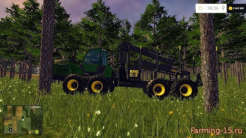 Лесозагатовка для Мод Лесовоз «John Deere 1510e IT4» v1.0.1 для Farming Simulator 2015