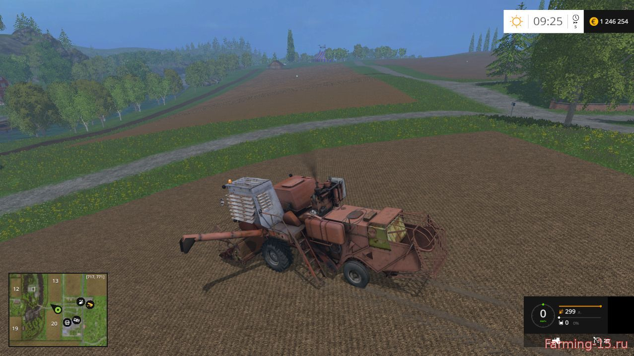 Комбайны для Мод комбайн СК-5М Нива с ПУНом и копнителем для Farming Simulator 2015